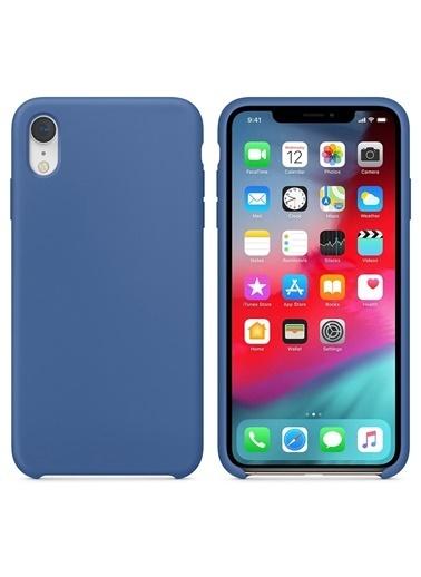 Bludfire Apple iPhone XR Kılıf Liquid Lansman Silikon Çini Mavisi Mavi